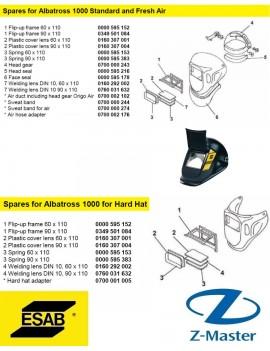 Откидная рамка для Albatross 1000 0000595152 Esab
