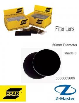 Круглые светофильтры, диаметр 50 мм Shade 6 0000665606 Эсаб