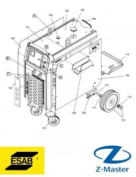 Переключатель, 4 ступени для сварочных полуавтоматов Esab (Эсаб) 0193942001