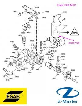 Мотор-редуктор 42V DC 0455077001 проволокоподающего Esab