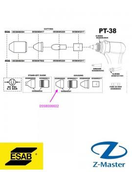 Защитный экран 50-90 А, PT37 PT38 0558006602 Esab