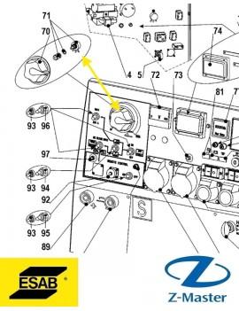 Потенциометр для KHM600, KHM 350 Esab 0794000147