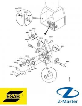 Адаптер-шестерня 0459441880 проволокоподающего механизма Esab (Эсаб)