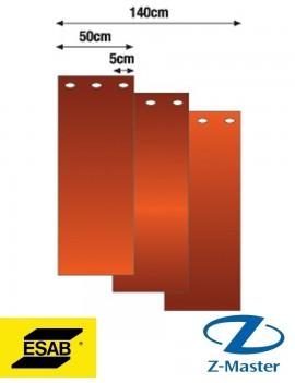 Сварочная полосовая штора (3 шт.) темно-красная (DIN 9), 1,8 х 1,4 м 0700008001 Эсаб