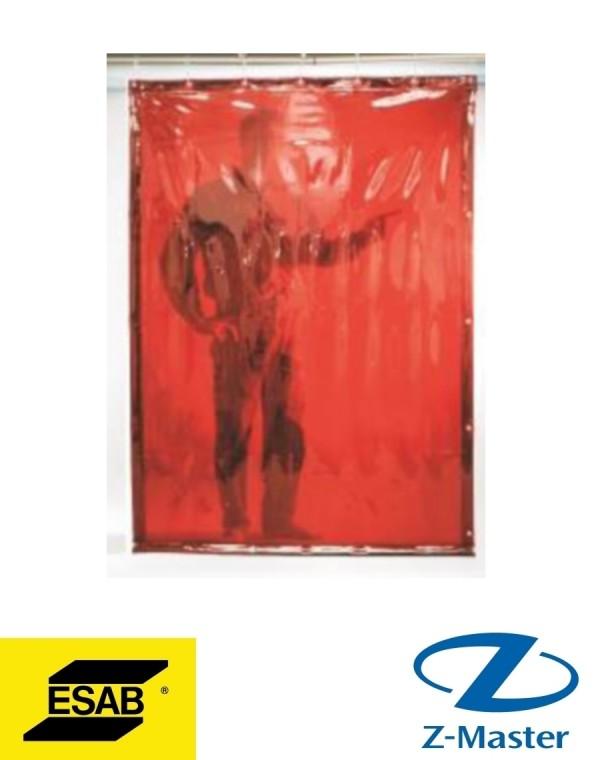 Сварочная штора темно-красная, 1400x1800, DIN 9 0700008004 Esab