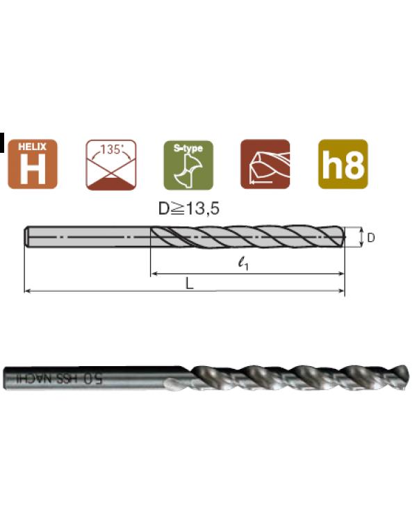 Японское сверло по металлу d 3.2 с прямым хвостовиком для алюминия