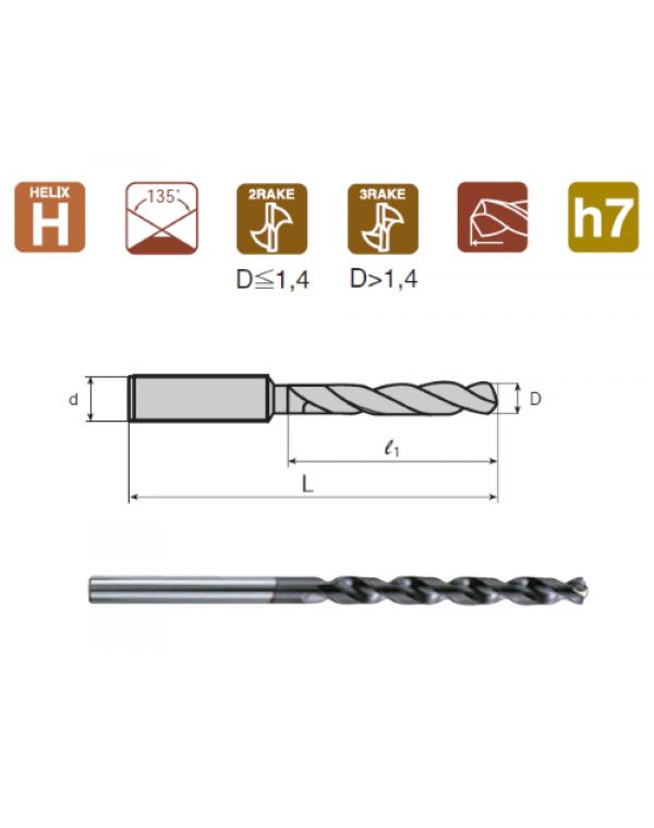 Сверло по металлу d 4.5 из быстрорежущей стали с покрытием DLC Nachi