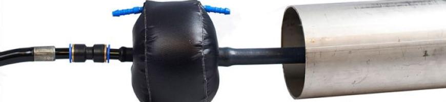 Надувные системы локальной продувки для полированных труб